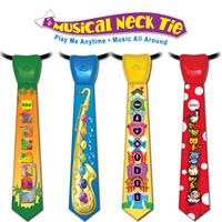 3 Assorted Musical Neck Tie